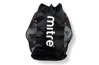Mitre Durable Mesh 12 Ball Carrier/Bag Shoulder Strap for Soccer/Football/Sports
