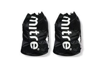2PK Mitre Durable 8 Ball Carrier/Bag w/Shoulder Strap for Soccer/Football/Sport