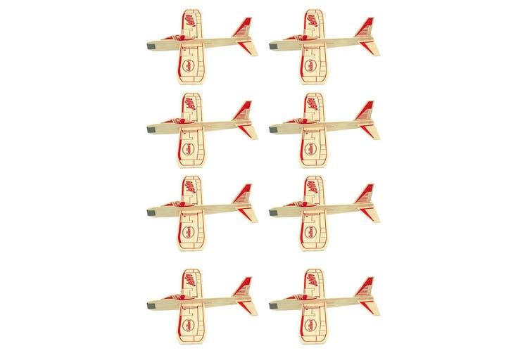 8pc Guillow's Jetfire Glider Twin Airplanes Stunt Planes Toys Kids/Children 8y+