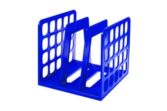 Esselte Vertical Book/File Rack/Holder/Organiser Office/Desk Accessories Blue