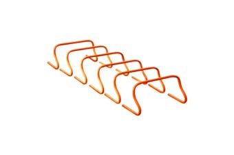 """6x Mitre 9"""" Soccer/Football Drills Sport Hurdle Speed/Agility Training Aid Coral"""