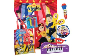 The Wiggles Showbag w/ Keyboard/Stage Curtain/Microphone/Recorder Musical Toys