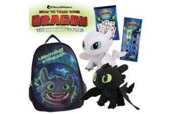 How To Train Your Dragon Showbag w/Backpack/Soft Toys/Temporary Tattoo Book Kids