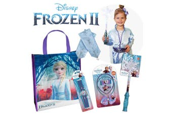 Frozen 2 Dress Up Showbag w/ Bracelet/Wand/Elsa Costume/Hair Clips Girls Set