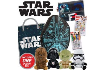 Star Wars Showbag w/ Falcon Backpack/Stickers/Markers/Soft Toys Boys/Kids Set