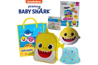 Nickelodeon Baby Shark Showbag w/ Backpack/Bucket Hat/Plush Toy/Foam Stickers