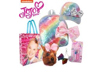 Nickelodeon JoJo Siwa Showbag w/ Purse/Backpack/Keychain/Lip Gloss/Sequin Cap