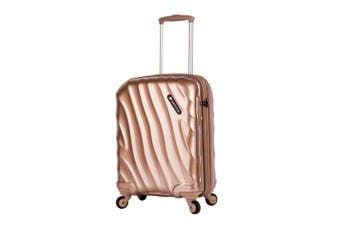 Paklite Wave Hardshell Cabin Luggage/Suitcase Travel Case Spinner/2.9kg 45L Gold