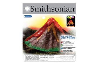 Smithsonian Glow in the Dark Giant Volcano Kit Science Educational Kids 6y+ Toy