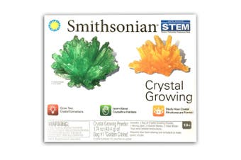 Smithsonian Crystal Growing Science Kit/Mining Pretend Educational Toy/Kids 10y+