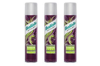 3x Batiste 200ml Texturising Hair Spray Keratin/Inca Inchi Oil Hair Care/Styling