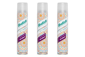 3x Batiste Instant Hair Refresh 200ml Marrakesh Dry Shampoo Hair Care Cleaning