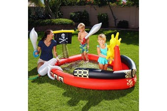 Bestway 190cm Kids Pirate Inflatable Play Pool Outdoor Water Toys Children 2y+