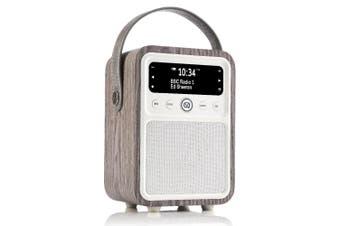 View Quest Monty DAB+ Digital AM/FM Radio/Bluetooth/Wireless Speaker Limed Oak