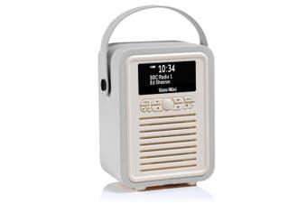 View Quest Retro Mini DAB+ Digital AM/FM Radio/Bluetooth/Wireless Speaker Grey