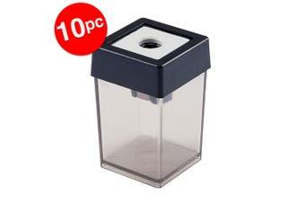 10PK Dahle Plastic Single Hole Pencil Sharpener School/Office Stationery Black