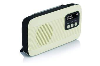 Lava Akoni Portable Cream DAB+ Digital AM/FM Radio/Bluetooth/Wireless Speaker