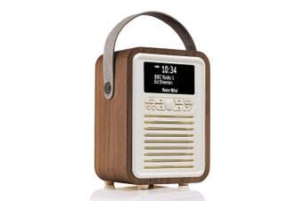 View Quest Retro Mini DAB+ Digital AM/FM Radio/Bluetooth/Wireless Speaker Walnut