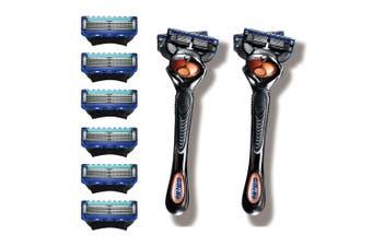 Gillette Fusion Proglide 2 Razor Handle/8 Cartridges Shaving Blades/Trimming Men