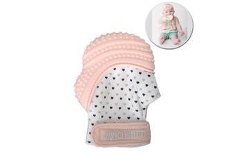 Malarkey Munch Silicone Mitt Mitten Teething Teether for Baby/Kids Pastel Pink