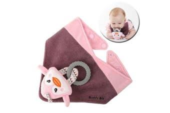 Malarkey Buddy Waterproof Bib Kid/Baby Plush Toy/Teether Holder Pinky Penguin