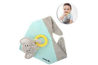 Malarkey Kids Buddy Waterproof Bib Baby Plush Toy/Teether Holder Eli Elephant