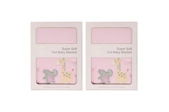 2x My Baby Tropicana Super Soft Cot Cloth/Blanket Bag Wrap f/ Babies/Infant Pink