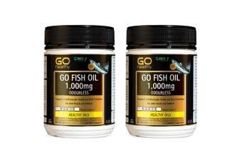 2x Go Healthy Go Fish Oil 1000mg Odourless EPA DHA 400 Capsule Health Supplement