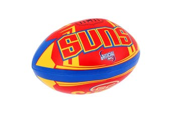 Summit AFL Gold Coast Suns 20cm Large/Soft Rugby Ball Play/Game/Toys Kids/Boy