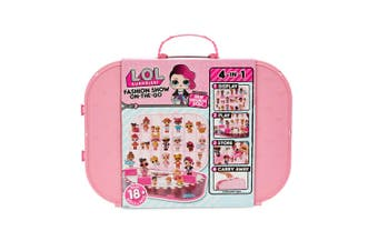LOL Surprise Fashion Show On The Go Doll Carrying Case/Storage/Display Light PK