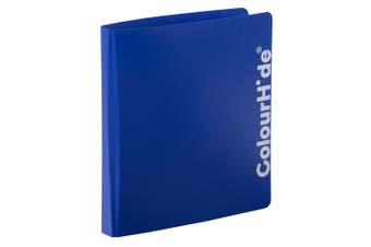 ColourHide A4 25mm D Ring Binder Paper/File Document Holder/Organiser Storage BL