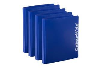 4PK ColourHide A4 D Ring Binder Paper/File Document Holder/Organiser Storage BL
