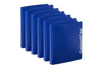 6PK ColourHide A4 D Ring Binder Paper/File Document Holder/Organiser Storage BL