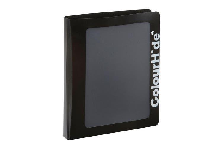 ColourHide A4 25mm Clearview Binder File/Paper Document Storage Organiser Black