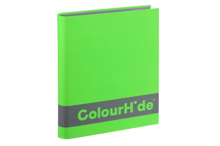 ColourHide A4 25mm 200 Sheets Silky Touch Ring Binder/Folder Paper Organiser GRN