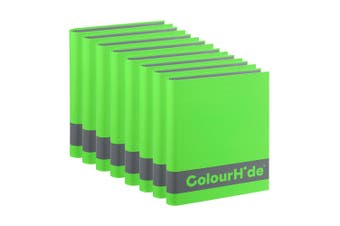 8PK ColourHide A4 200 Sheets Silky Touch Ring Binder/Folder Paper Organiser GRN