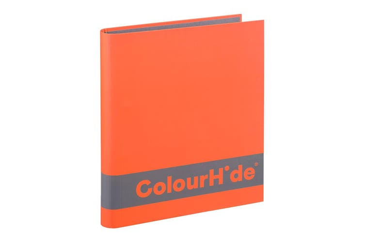 8x ColourHide A4 200 Sheets Silky Touch Ring Binder/Folder File Organiser Orange