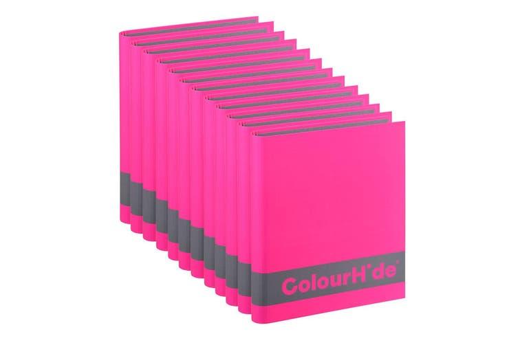 12PK ColourHide A4 200 Sheets Silky Touch Ring Binder/Folder Paper Organiser PK