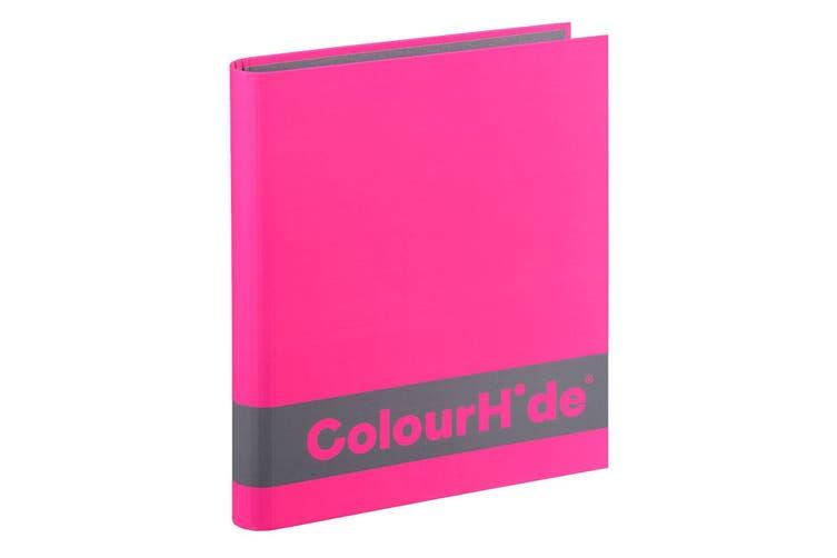 8PK ColourHide A4 200 Sheets Silky Touch Ring Binder/Folder Paper Organiser Pink