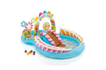 Intex 295x191cm Candy Zone Play Center Kids Inflatable Swimming Pool w/Slide 3y+