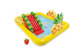 Intex 244x191cm Play Fruit Center Kids Inflatable Swimming Pool w/Slide 3y+