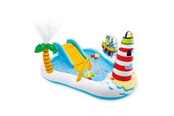 Intex 218x188cm Play Fishing Fun Center Kids Inflatable Swimming Pool w/Slide 3+