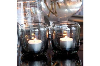 Glass Tealight Votive 8.5x8.5cm Candle Holder/Storage Container Decor Grey Shade