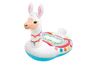 Intex 112cm Inflatable Cute Llama Ride-On Kids Water Toy f/Swimming Pool 3y+