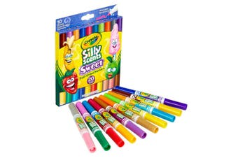 10PK Crayola Silly Scents Dual-Ended Heads Washable Coloured Markers Art/Craft