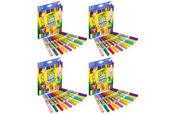 4x 10PK Crayola Silly Scents Dual-Ended Head Washable Coloured Markers Art/Craft