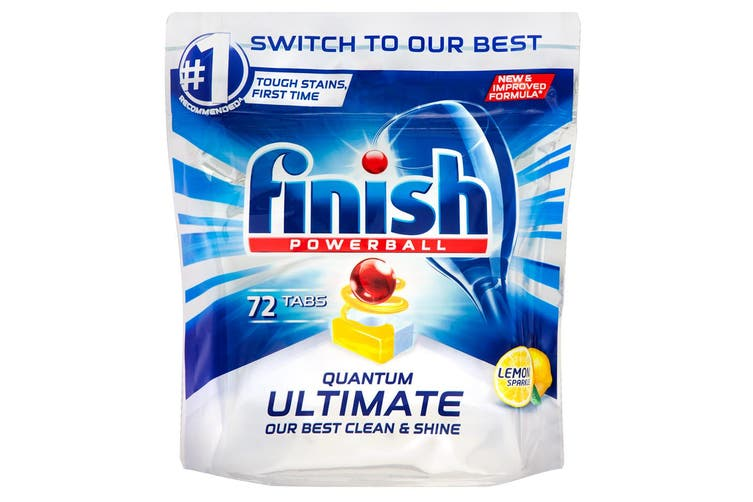 288PK Finish Powerball Quantum Ultimate Tablets for Dishwashing Cleaning Lemon