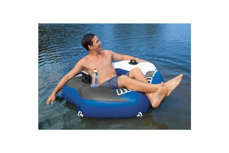 2pc Intex Inflatable Mega Chill Floating 122cm Drink Cooler/130cm Lounge Seat