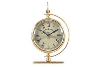Antique Gold Framed 12-Hour Analogue Colonial 18cm Table/Desk Clock Home Decor
