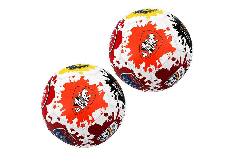 2x Summit A-League All Teams Supporter Neoprene Beach/Soccer/Training Ball Size5